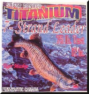 Finn-Tastic Titanium Single Strand Leader 30 lb x 18 in.